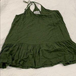 Acacia Sam tropez worn green rayon cover up